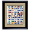 American Coin Treasures US State Flag Stamp Sheet in 16x14 Wood Frame