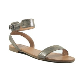VANESSA Silver Classic Ankle Strap Sandal