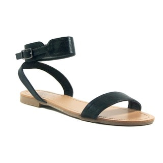 VANESSA Black Classic Ankle Strap Sandal