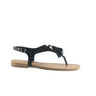 SIRY Black Studded Sandal
