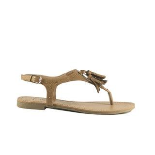 SIRY Beige Studded Sandal