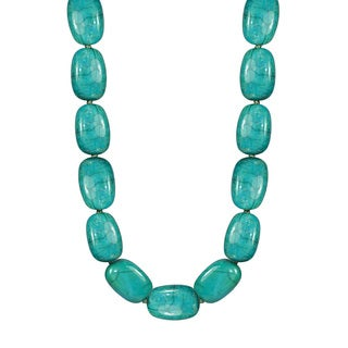 14k Yellow Gold Green Chrysocola 18-inch Necklace