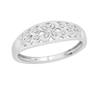 Trillion Designs Sterling Silver Diamond Accent Ring