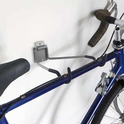 Stalwart Flip Up Wall Mount Bike Hanger Folding Rack - 50-pound Capacity - 13.25 x 11.5 x 4