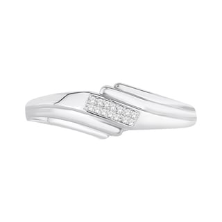Trillion Designs Sterling Silver Diamond Accent Cluster Wedding Band (H-I, I1-I2)