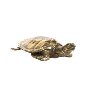 Interior Illusions Resin Goldtone Turtle Table Decor