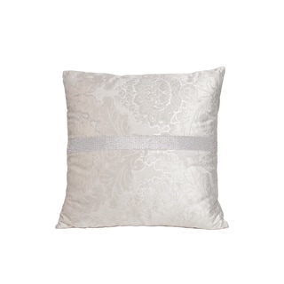 Interior Illusions SQUARE DIAMOND PILLOW CREME