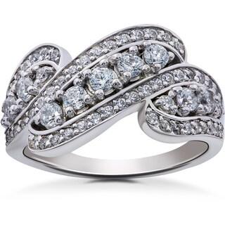 14k White Gold 1 1/4ct TDW Diamond Ring