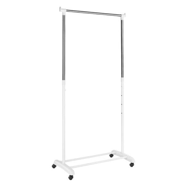Whitmor 6024 3539 White Adjustable Garment Rack