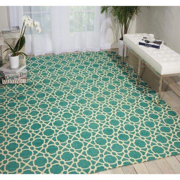 shop waverly color motion perfect fit teal area rug by nourison 8 39 x 10 39 on sale free. Black Bedroom Furniture Sets. Home Design Ideas