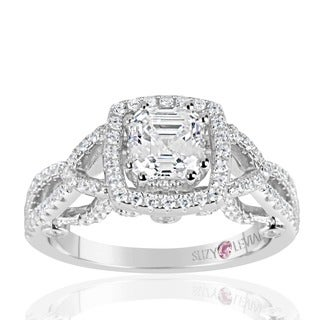 Suzy Levian Sterling Silver Asscher Cut White Cubic Zirconia Engagement Ring|https://ak1.ostkcdn.com/images/products/12319590/P19152575.jpg?_ostk_perf_=percv&impolicy=medium