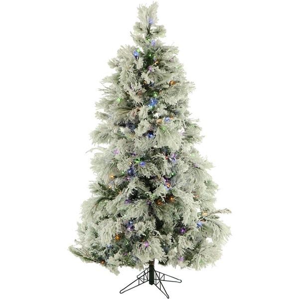 Shop Fraser Hill Farm 9 Foot Flocked Snowy Pine Christmas
