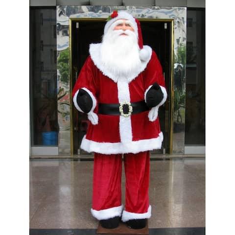 6-foot Red Velvet Standing or Sitting Santa