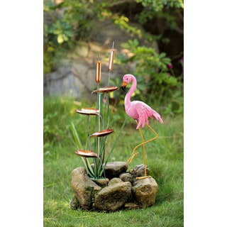 Jeco Metal/Resin Flamingo Water Fountain