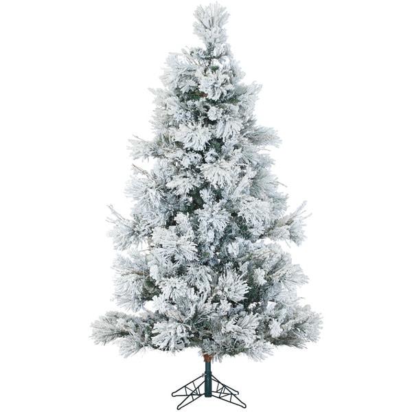 12 Ft Christmas Trees: Fraser Hill Farm 12-Foot Flocked Snowy Pine Christmas Tree