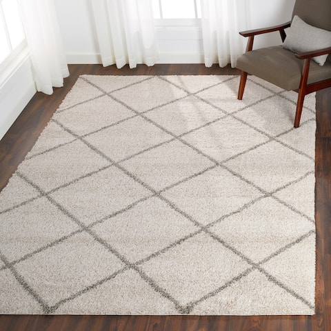 Nourison Brisbane Large Diamond Shag Area Rug