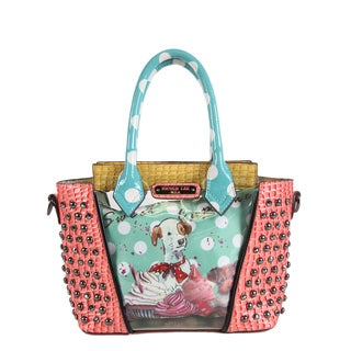 Nicole Lee Cupcake Dog Clear Print Mini Handbag