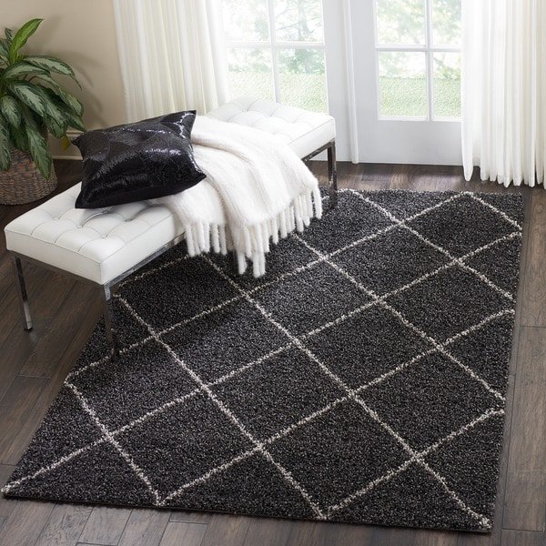 Shop Nourison Brisbane Charcoal Shag Area Rug 5 X 7