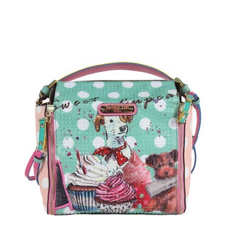 Nicole Lee Cupcake Dog Print Mini Handbag