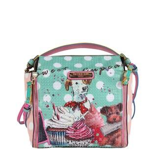 Nicole Lee Cupcake Dog Print Mini Handbag