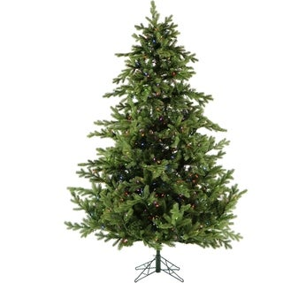 Fraser Hill Farm 9' Foxtail Pine Christmas Tree with Multicolored LED String Lighting