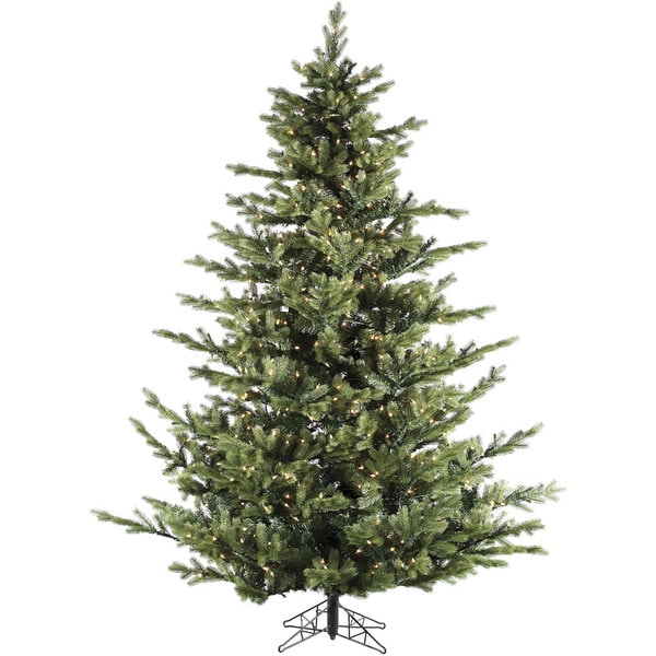 fraser hill farm 9 foot foxtail pine christmas tree with clear led string lighting - 9 Ft Led Christmas Tree