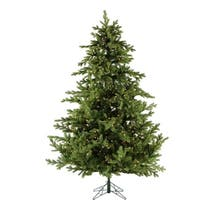 Fraser Hill Farm 9-foot Foxtail Pine Christmas Tree with Clear LED String Lighting