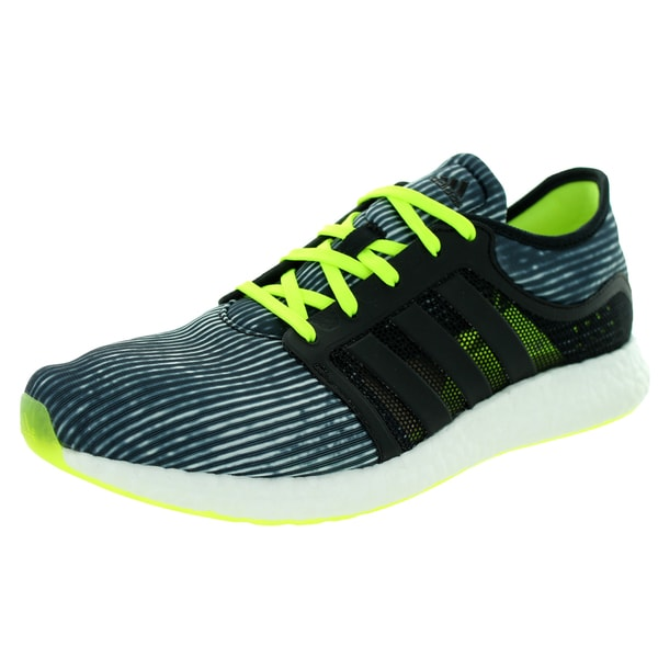 c9cd7acdcae Shop Adidas Men s Cc Rocket Boost M Black Grey Lime yellow Running ...