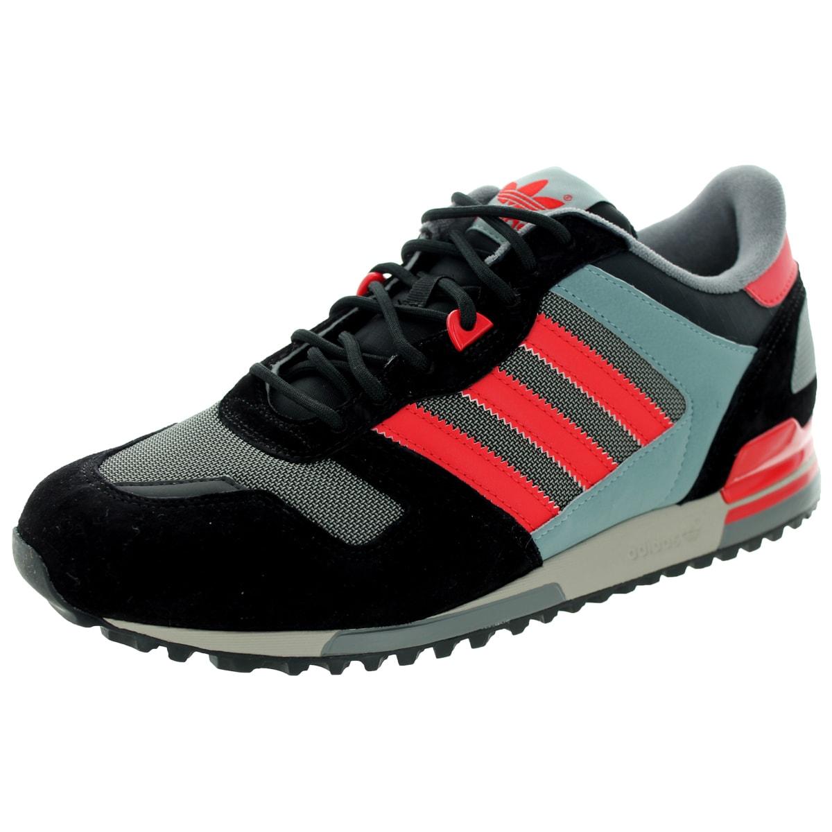 Adidas Men's Zx 700 Originals Black/Tomato/ Running Shoe