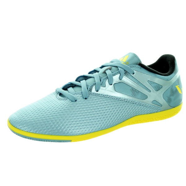 b50eddeff closeout adidas menx27s messi 15.3 in yellow black indoor soccer shoe 59b24  94011