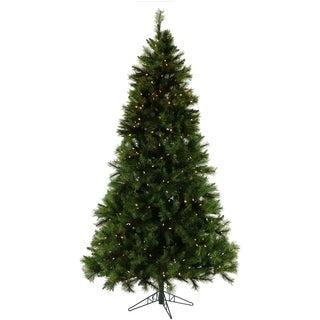 Fraser Hill Farm 9-foot Green Plastic/Metal Pine Christmas Tree with Smart String Lighting