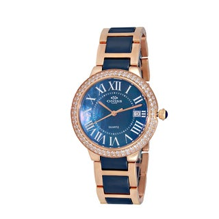 Oniss ON3331 Women's Rosetone Ceramic/Stainless Steel Timepiece