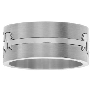 Territory Stainless Steel Tribal Dragon Wide Band