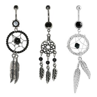 Supreme Jewelry Dream Catcher 3-piece Belly Ring Variety Pack