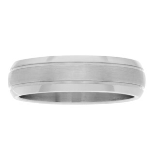 Territory Titanium Double Grooved Brushed Wedding Band