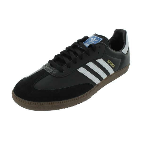4aa6be9b00cc Adidas Men  x27 s Samba Classic Originals Black White Gum5 Indoor Soccer