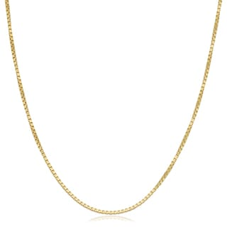 Fremada 18k Yellow Gold 1-mm High Polish Box Chain Necklace (18 inches)