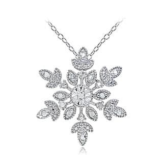 DB Designs Sterling Silver Diamond Accent Snowflake Necklace|https://ak1.ostkcdn.com/images/products/12320242/P19153142.jpg?impolicy=medium