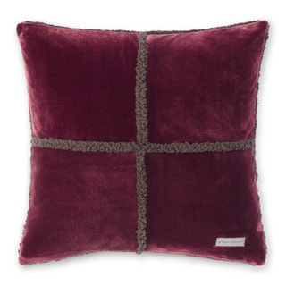 Eddie Bauer Rockford Chrome/Beet Plush Sherpa Decorative Pillow