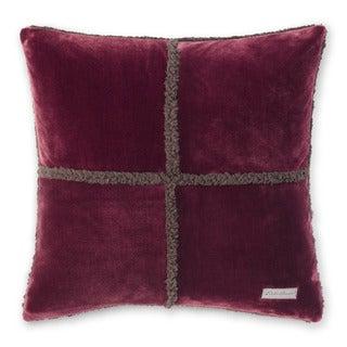 Eddie Bauer Rockford Chrome/Beet Plush Sherpa Decorative Pillow