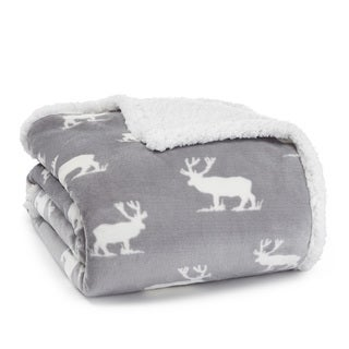 Eddie Bauer Elk Sherpa Plush Throw