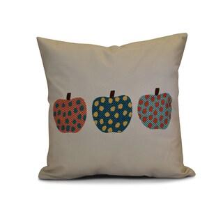 18 x 18-inch, 3 Little Pumpkins, Geometric Print Pillow