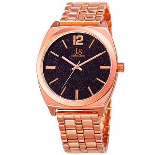 Joshua & Sons Men's Quartz Easy-to-Read Rose-Tone Bracelet Watch
