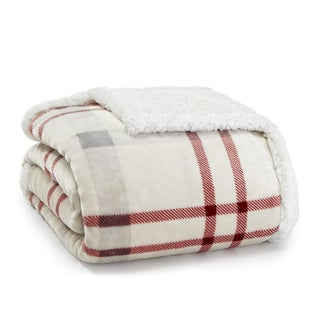 Eddie Bauer New Castle Sherpa Plush Throw