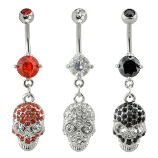 Supreme Jewelry Skull Belly Ring 3-pack