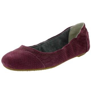 Toms Women's Ballet Flat Wine Suede Snake Casual Shoe