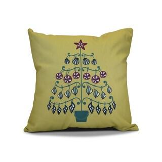 18 x 18-inch, Beach Tree, Holiday Geometric Print Pillow