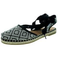 Toms Women's Bella Espadrille Black Woven Sandal