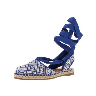 Toms Women's Bella Espadrille Blue Woven Sandal