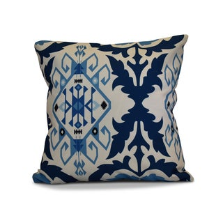 18 x 18-inch, Bombay 6, Geometric Print Outdoor Pillow